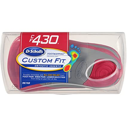 Dr. Scholl's Custom Fit Orthotic Inserts, CF 430 on dr scholl's massaging machine percushion, dr scholl's massager with heat, dr scholl's feet,