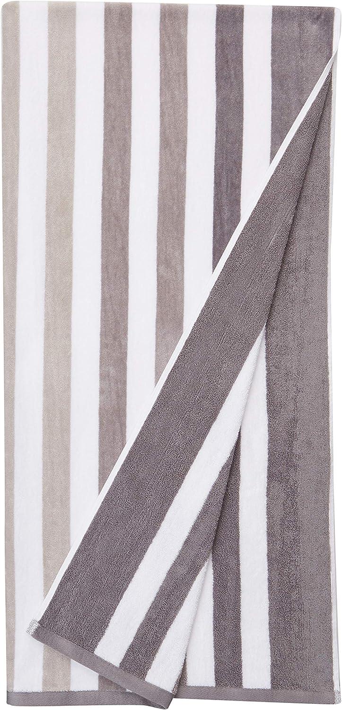Basics Oversized Premium Beach Towels 2-Pack Blue Ombre Stripes