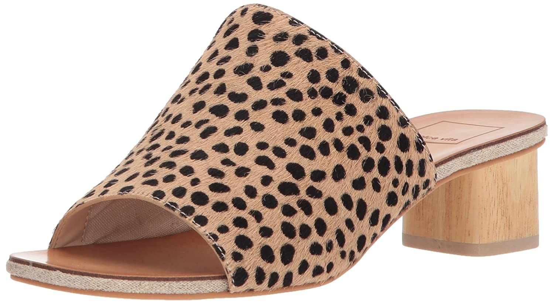 Dolce Vita Women's Kaira Slide Sandal B077NFJGZW 9.5 B(M) US|Leopard Calf Hair