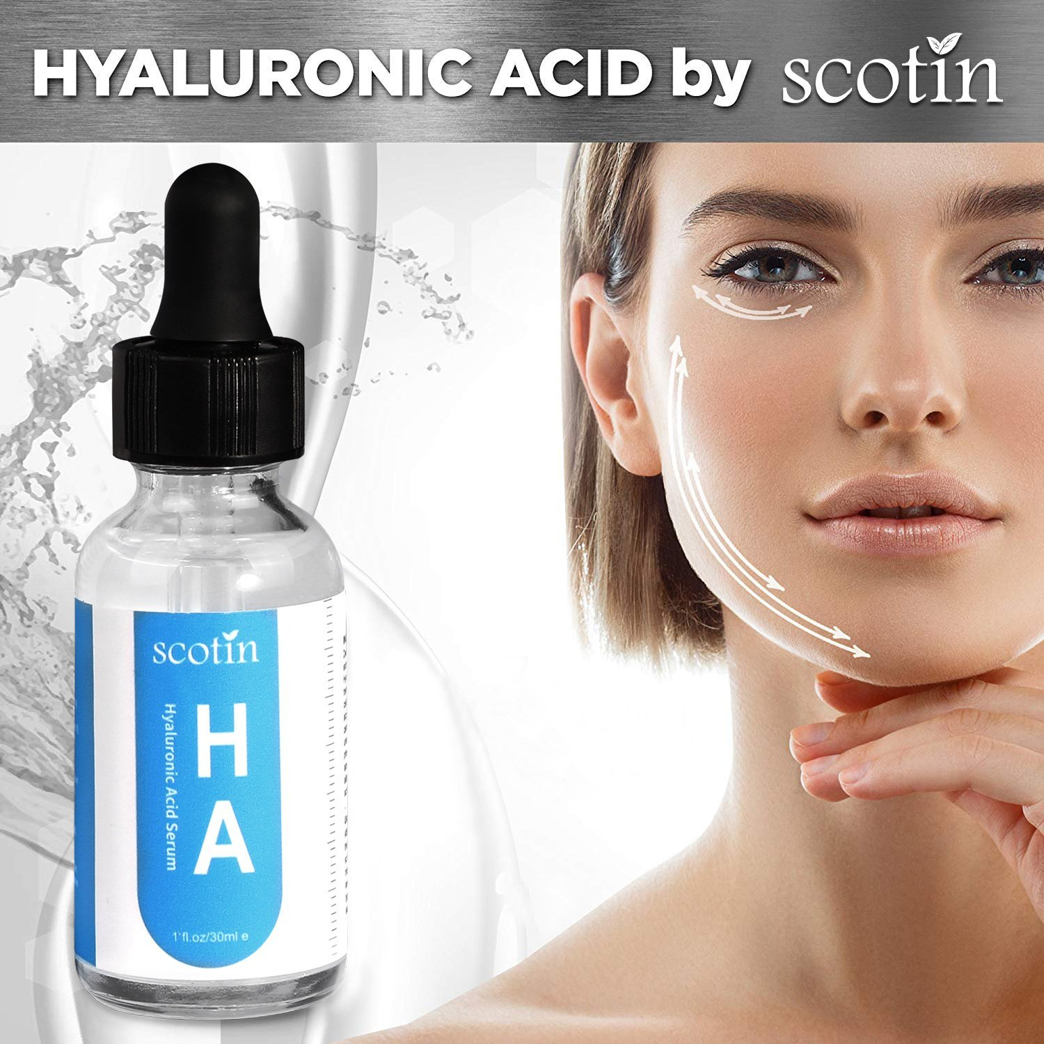 Pure Natural Hyaluronic Acid Serum For Skin Anti-Aging- Natural Aloe Intense Moisture, Non-greasy Anti-wrinkle and Natural Plumper for Skin