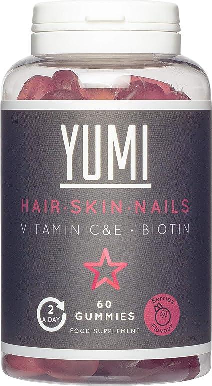 YUMI Biotina Para El Crecimiento y Cuidado Del Cabello 5000mcg Con Vitamina C & E  