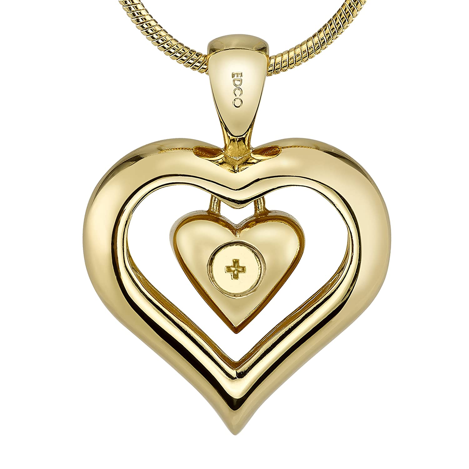 heart keepsake gold jewelry pendant for urn ashes necklace