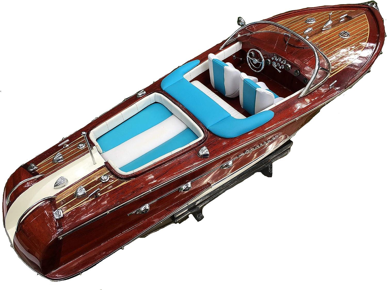 """Riva Aquarama Speed Model Ship Boat Wood Wooden Italian Nautica Handmade 21/"""""""