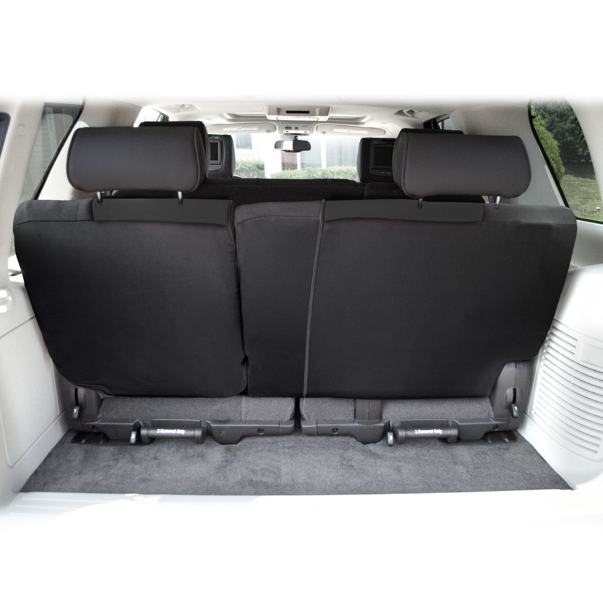 FH Group FB039013BLACK Black FB039BLACK013 Multifunctional Cloth Split Seat (Full Coverage Car Bench Backrest is Covered on All Sides) by FH Group