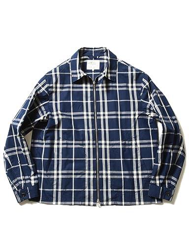Plaid Cotton Blouson 51-18-0306-012: Navy