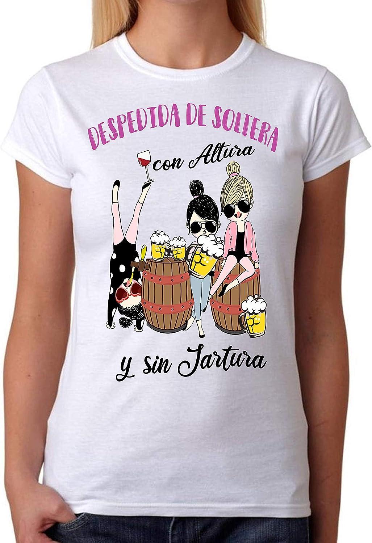 FUNNY CUP Camiseta Despedida de Soltera con Altura y sin jartura. Divertida para Amigas de la Novia: Amazon.es: Ropa y accesorios