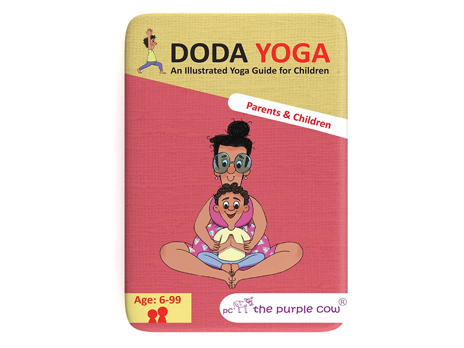 in Nature Educational Yoga Guide for Children Ages 6 Years Old /& Up The Purple Cow Doda Yoga for Kids Educational Yoga Sessions for Boys /& Girls. use Both in House // Out on The Go
