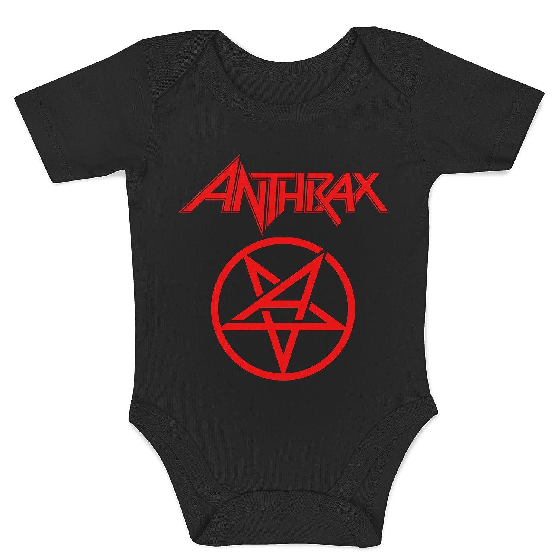 Body Metal Rock 100/% Cotone Neonato LaMAGLIERIA Baby Body Anthrax New Red Print