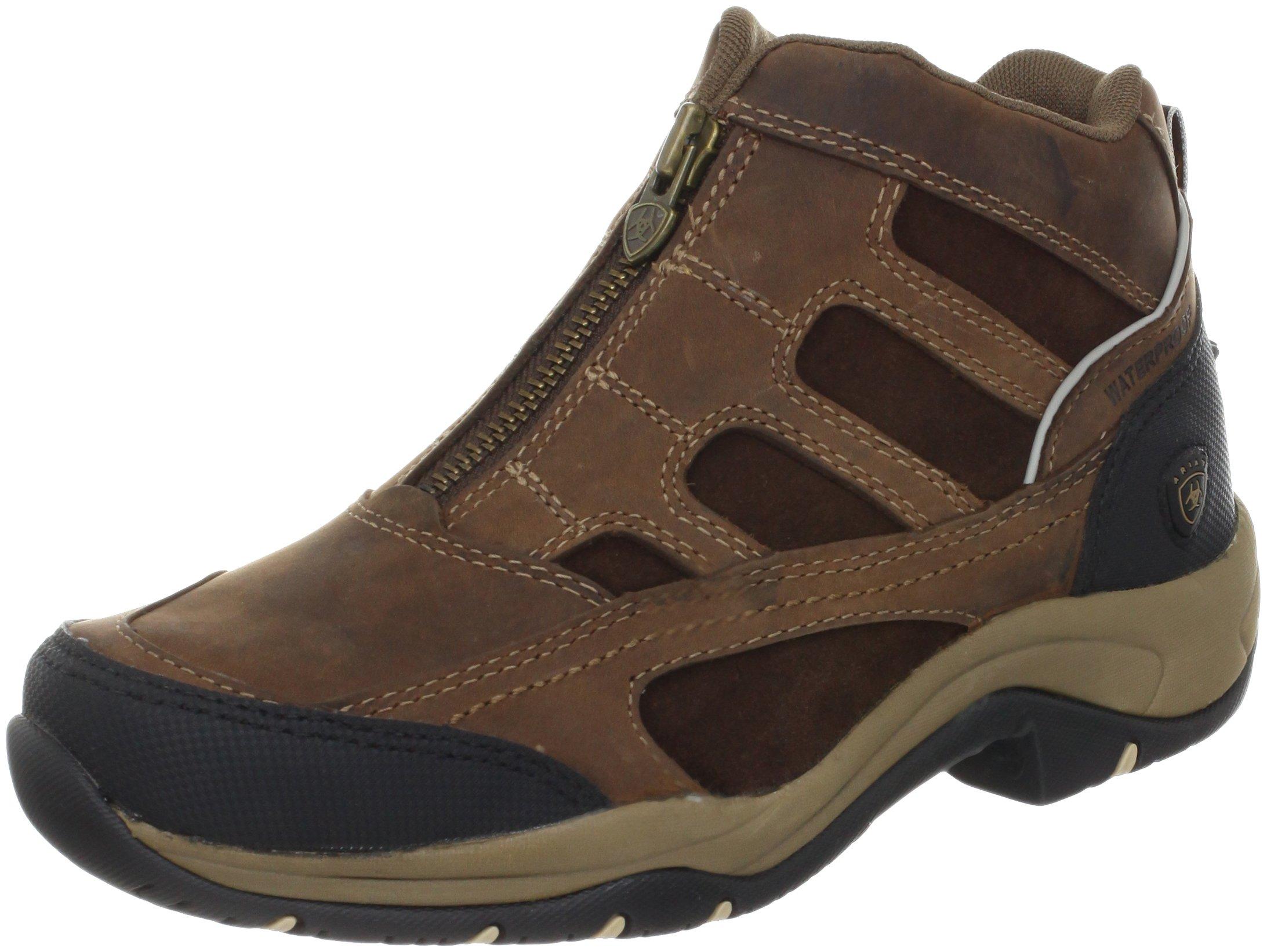 Ariat Women's Terrain Zip H2O Hiking Boot, Distressed Brown,9 B US