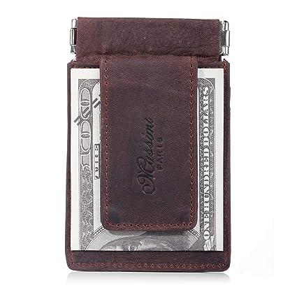 uomo pelle portafoglio with money clip inexpensive c1f57 55f6e