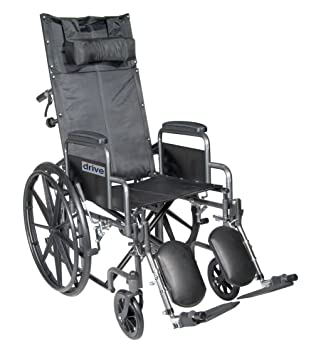 Amazon.com: Drive Medical Silver Sport - Silla de ruedas ...
