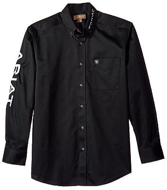 4dbde8b9 Ariat Men's Team Logo Long Sleeve Twill Shirt at Amazon Men's Clothing  store: