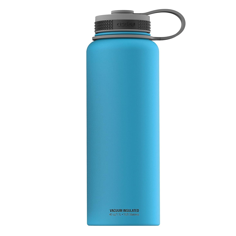 Asobu, The Mighty Fläschchen, Weithals-Flasche, Edelstahl, 40 Oz, blau blau