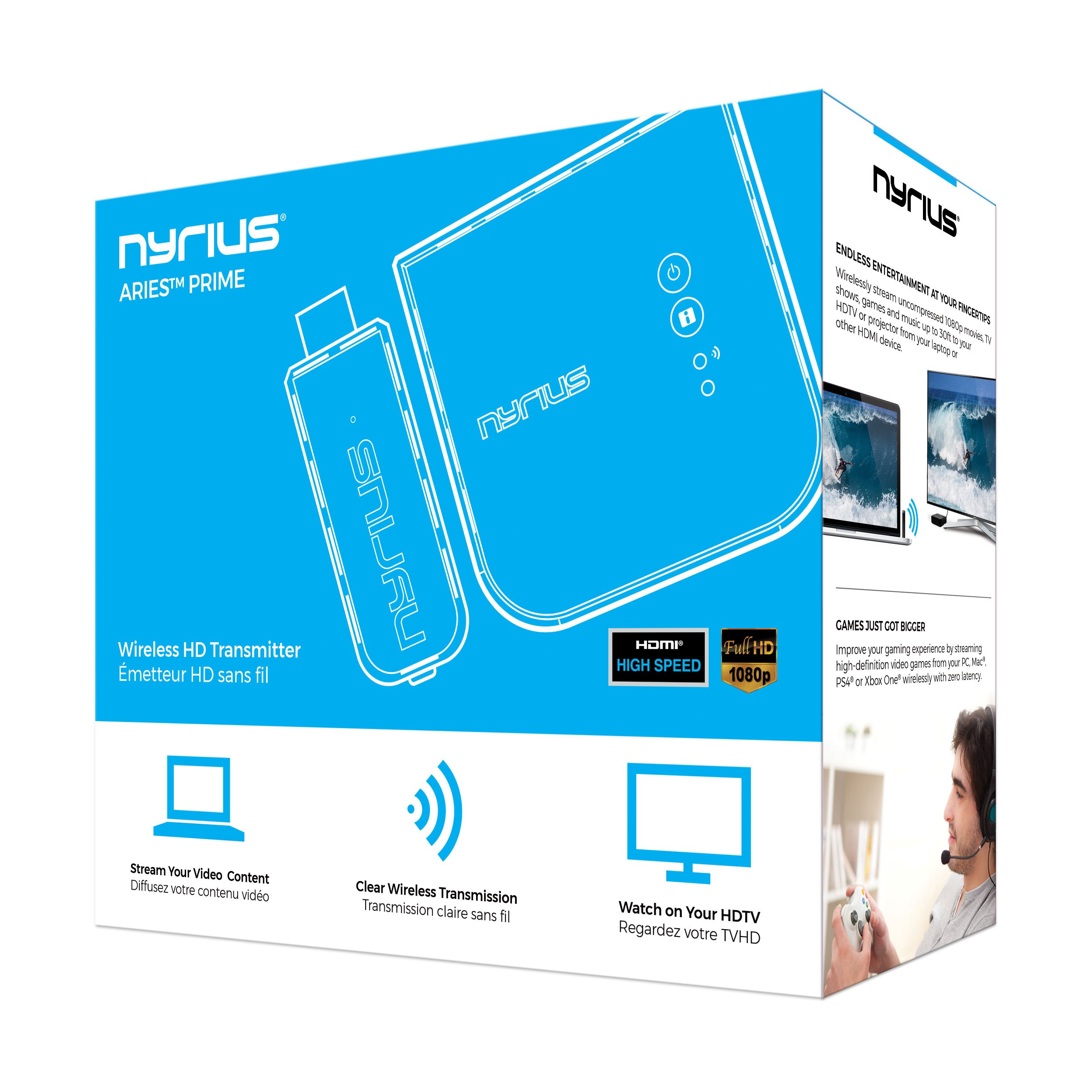 Nyrius Aries Prime Wireless Video HDMI Transmitter & Receiver for Streaming HD 1080p 3D Video & Digital Audio from Laptop, PC, Cable, Netflix, YouTube, PS4, Xbox One to HDTV/Projector (NPCS549) by Nyrius (Image #9)