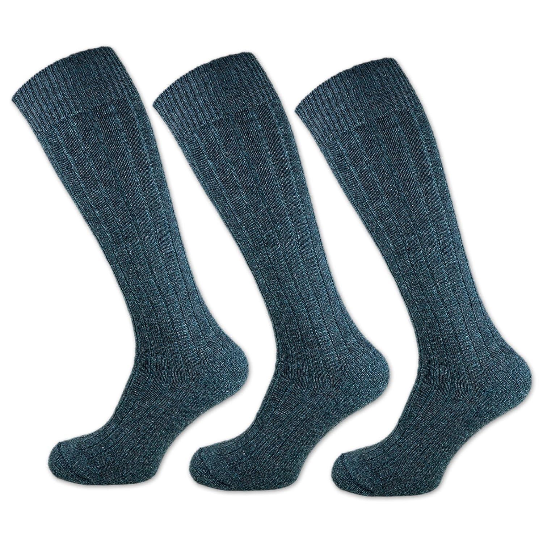 3 bis 15 Paar Herren Kniestrümpfe Wolle Armee Socken Grün mit Plüschsohle - RS 33326