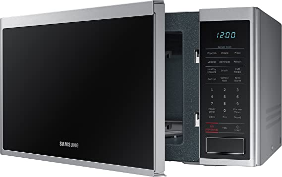 Samsung MS14K6000AS 1.4 cu. ft. Countertop Microwave Oven with Sensor and Ceramic Enamel Interior, Stainless Steel