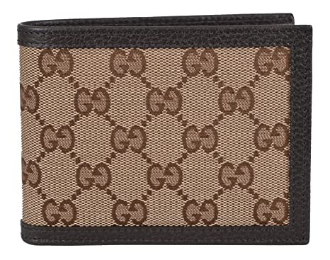 247705d9a28 Gucci Men s Canvas Guccissima GG Trifold Passcase ID Wallet (Brown Beige)