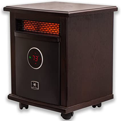 Heat Storm HS 1500 ILOD Logan Deluxe Infrared Space Heater, Remote Control,