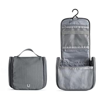 d9ecde7d8acd Travel Toiletry Bag Water Proof Nylon Wash Bag for Short Trip or Gym with  Hanging Hook