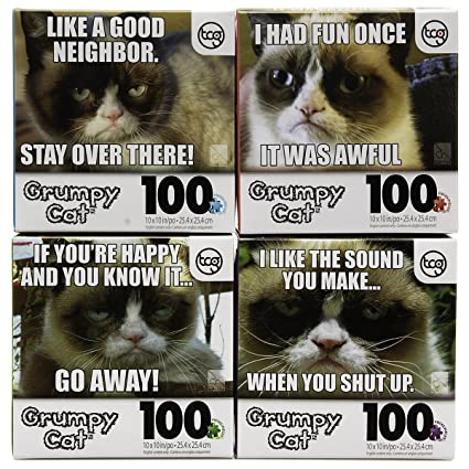 Image of: Meme Image Unavailable Sayingimagescom Amazoncom Dg Home Goods Set Of Official Grumpy Cat 100pc Jigsaw