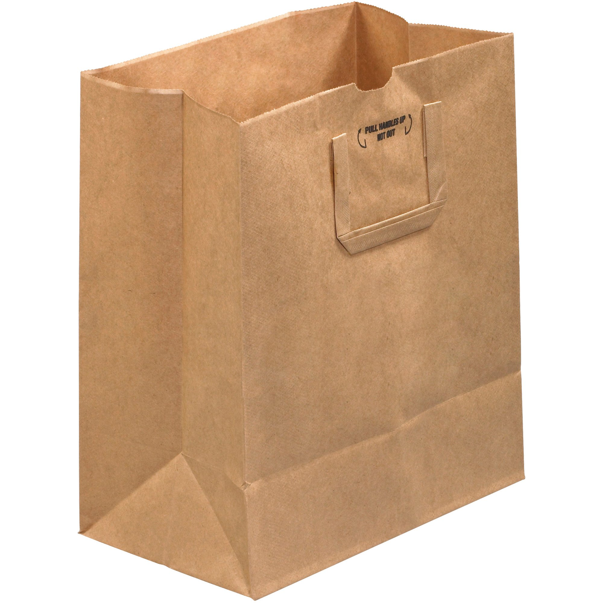 Aviditi BGFH101D Flat Handle Grocery Paper Bag, 7'' Length x 12'' Width x 14'' Height, Kraft (Case of 300) by Aviditi
