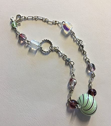 a5662e578 Image Unavailable. Image not available for. Color: Glass, Swarovski Crystal  & Sterling Silver Bracelet- ...