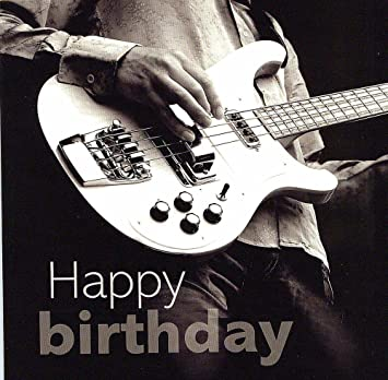 Birthday Card Bass Guitar Amazoncouk Musical Instruments