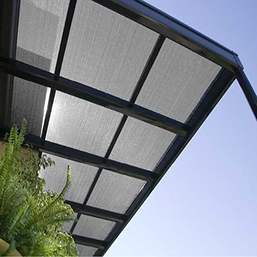 E K Sunrise 12 x 128 Light Grey Sun Shade Fabric Sunblock Shade Cloth Roll, 95 UV Resistant Mesh Netting Cover for Outdoor,Backyard,Garden,Greenhouse,Barn,Plant Customized