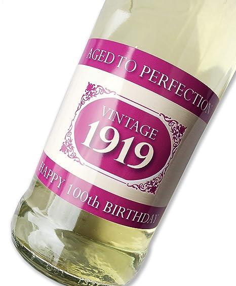 Purpleproducts 1919 Vintage Rosa Feliz 100º cumpleaños 2019 ...