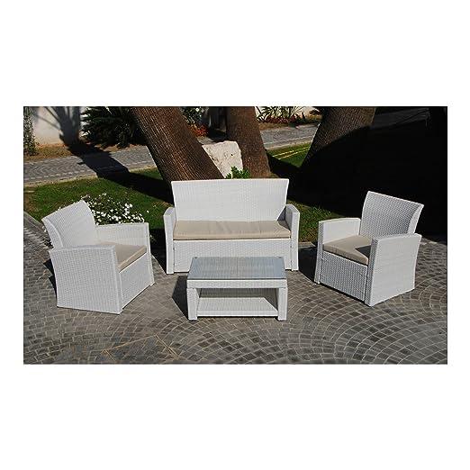 MUEBLES FLOOR - Sofá 2 plazas + 2 sillones + Tabla: Amazon ...