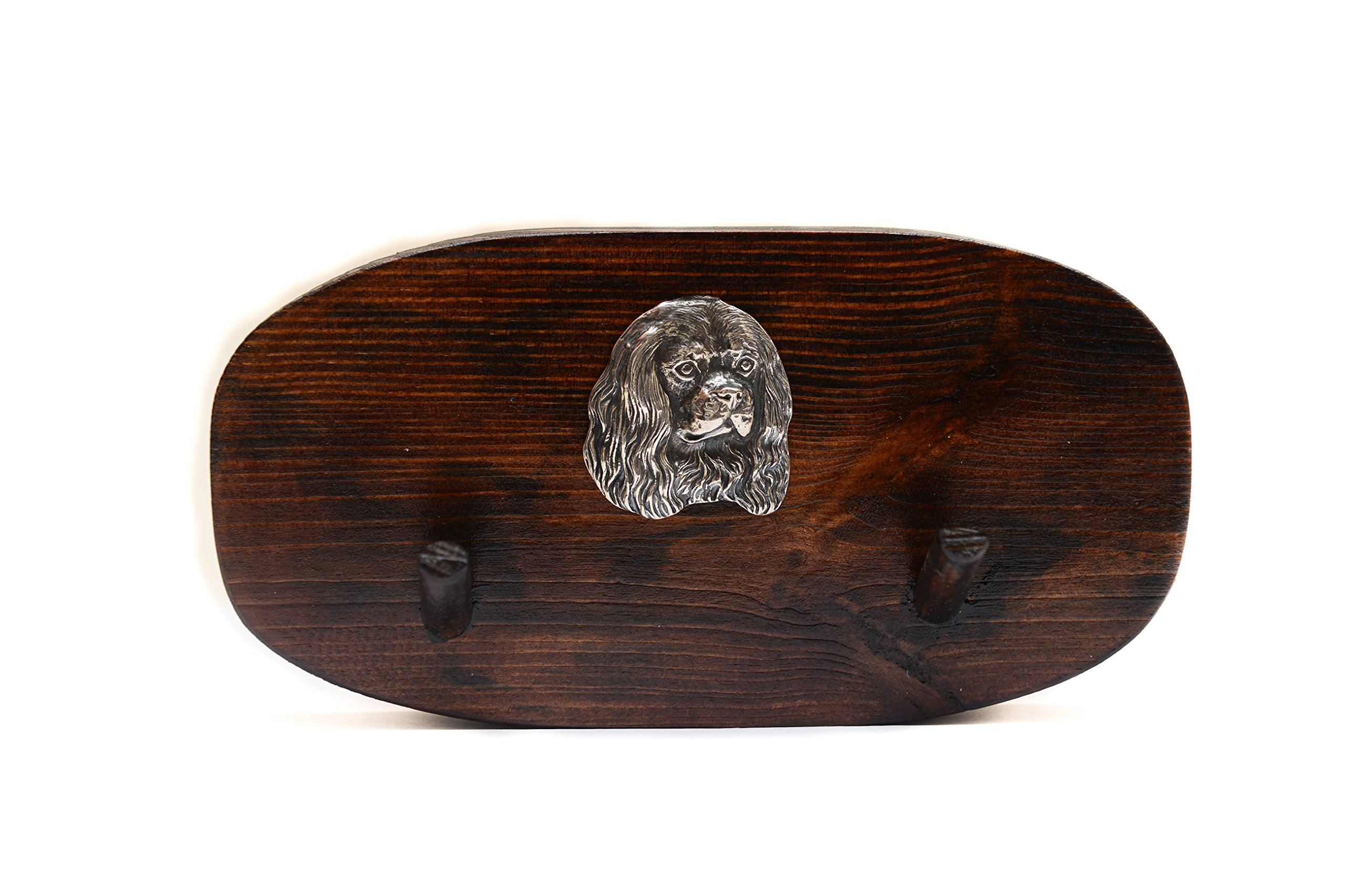 Cavalier King Charles Spaniel, Unique Wooden Hanger with a Relief of a Purebred Dog