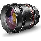 Walimex Pro 85mm 1:1,5 VCSC Video- und Fotoobjektiv für Sony E Objektivbajonett schwarz (manueller Fokus, für Vollformat Sensor gerechnet, IF, Filterdurchmesser 72mm, stufenlose Blendeneinstellung)