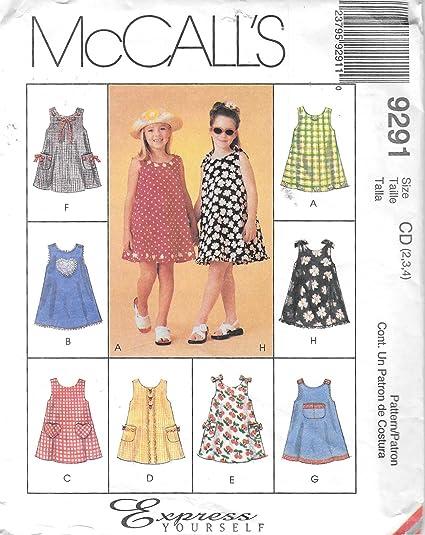 Amazon Mccalls 9291 Girls Sundress Sewing Pattern Arts