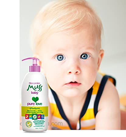 Muss Baby Shampoo Manzanilla Seda / hipoalergenico, libre de lagrimas 400ml /13.3Fl.