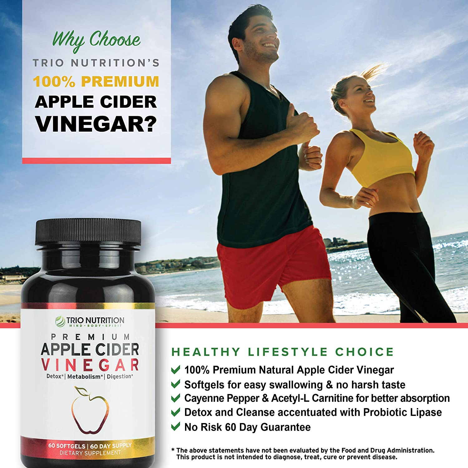 Apple Cider Vinegar Capsules with The Mother   Immune Support Booster   Maximum Strength, Raw, Fresh Natural Apple Cider Vinegar Pills   Cleanse and Detox Boost, Keto & Metabolism Support*
