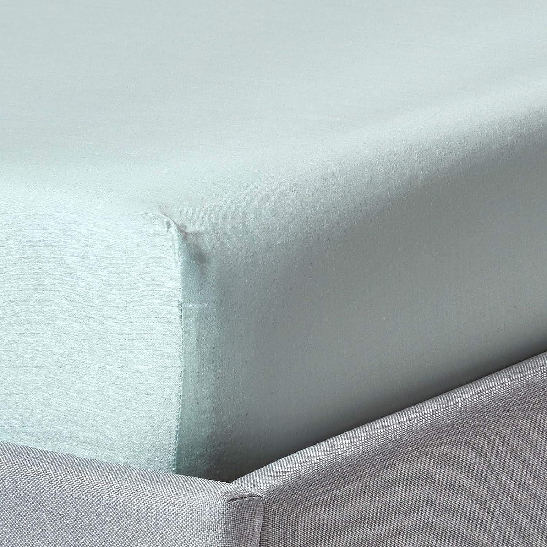 HOMESCAPES Sábana Bajera Ajustable 100% algodón Bio 400 Hilos ...