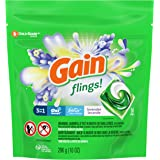Gain flings! Laundry Detergent Liquid Pacs, Lavender, 14 Count - Packaging May Vary