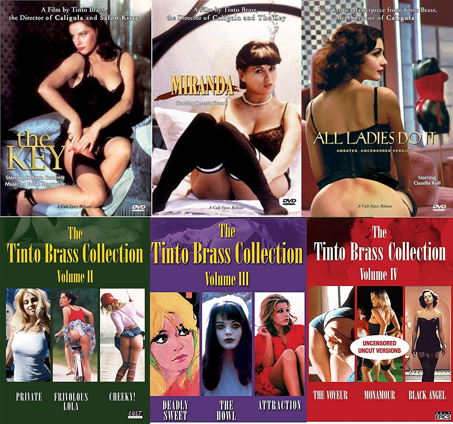 Tinto Brass Collection 12 Dvd Bundle All Ladies Do It Miranda The Key Cheeky Monamour Private Black Angel Cheeky Frivolous Lola Deadly Sweet