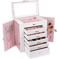 Kendal Huge Leather Jewelry Box / Case / Storage (Cream)