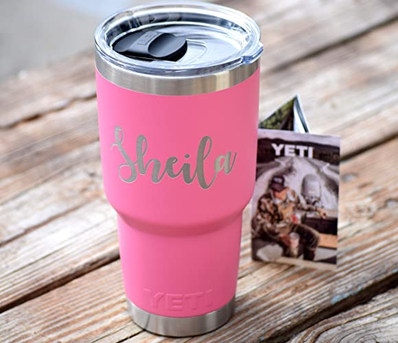 a0215c02adb Harbor PINK AUTHENTIC Engraved Yeti Rambler with Magslider Lid - Tumblers  Personalized Yeti Yeti Gift Laser Engraved Yeti - Yeti Tumbler Yeti Cup Yeti  ...