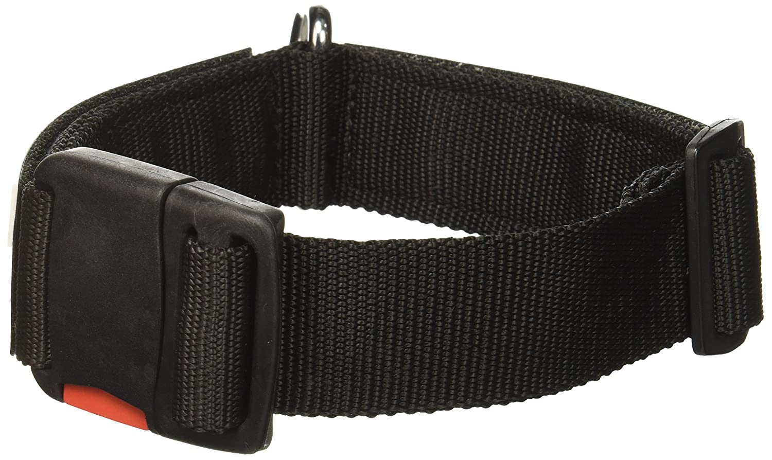 Dean and Tyler Patch Collar, Nylon Dog Collar with Working Dog DO NOT PET Patches Black Size  Small Fits Neck 18-Inch to 21-Inch