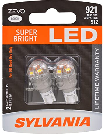 SYLVANIA - 921 T-16 W16W ZEVO LED White Bulb - Bright LED Bulb,