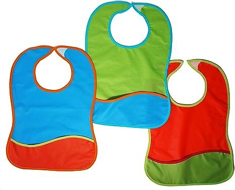 Ti TIN Pack de 4 Baberos Impermeables para Bebé 100% Vinilo | Lote ...