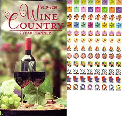 Wine Calendar 2020 Amazon.: Wine Country   2019 2020 2 Year Pocket Planner