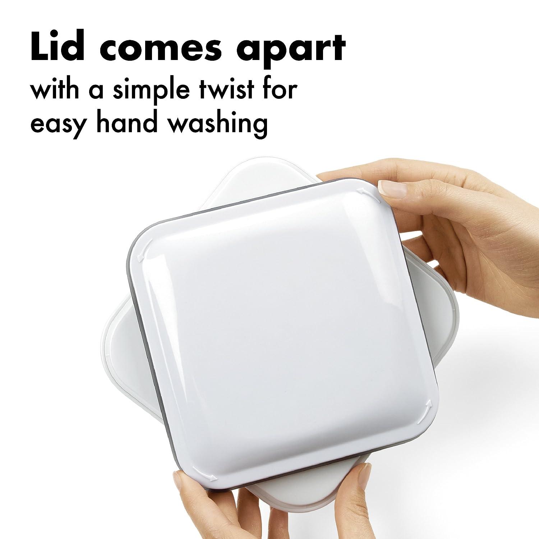 0,9l OXO Good Grips POP Contenitore Quadrato Piccolo Trasparente Plastica