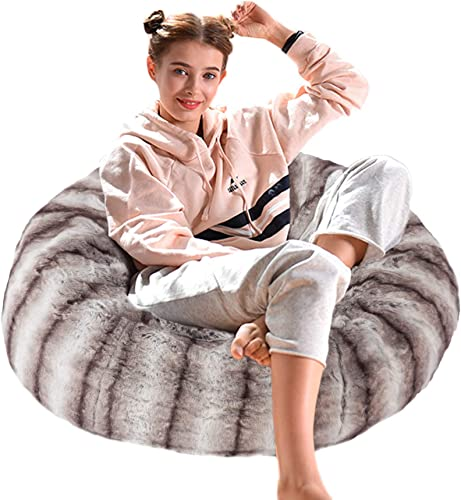 Dporticus Christmas Series Lounger Memory Foam Faux Fur Comfy Bean Bag Chair Sofa Plush Furry Sponge Filling - the best bean bag chair for the money