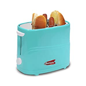 Americana By Elite ECT-542BL Retro Pop-Up Hot Dog Toaster Cooker Machine Blue