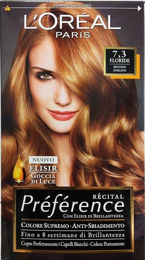 6 x Preference Shampoo Tinte Rubio Dorado Floride 7.3: Amazon ...