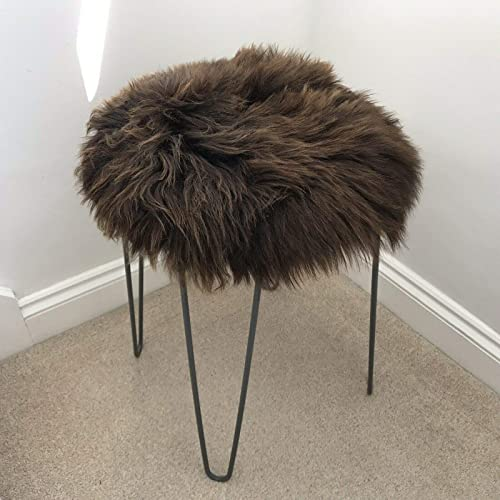 Blacks 100/% Natural Real Sheepskin Seat Pad Icelandic Roundie 35cm Creams