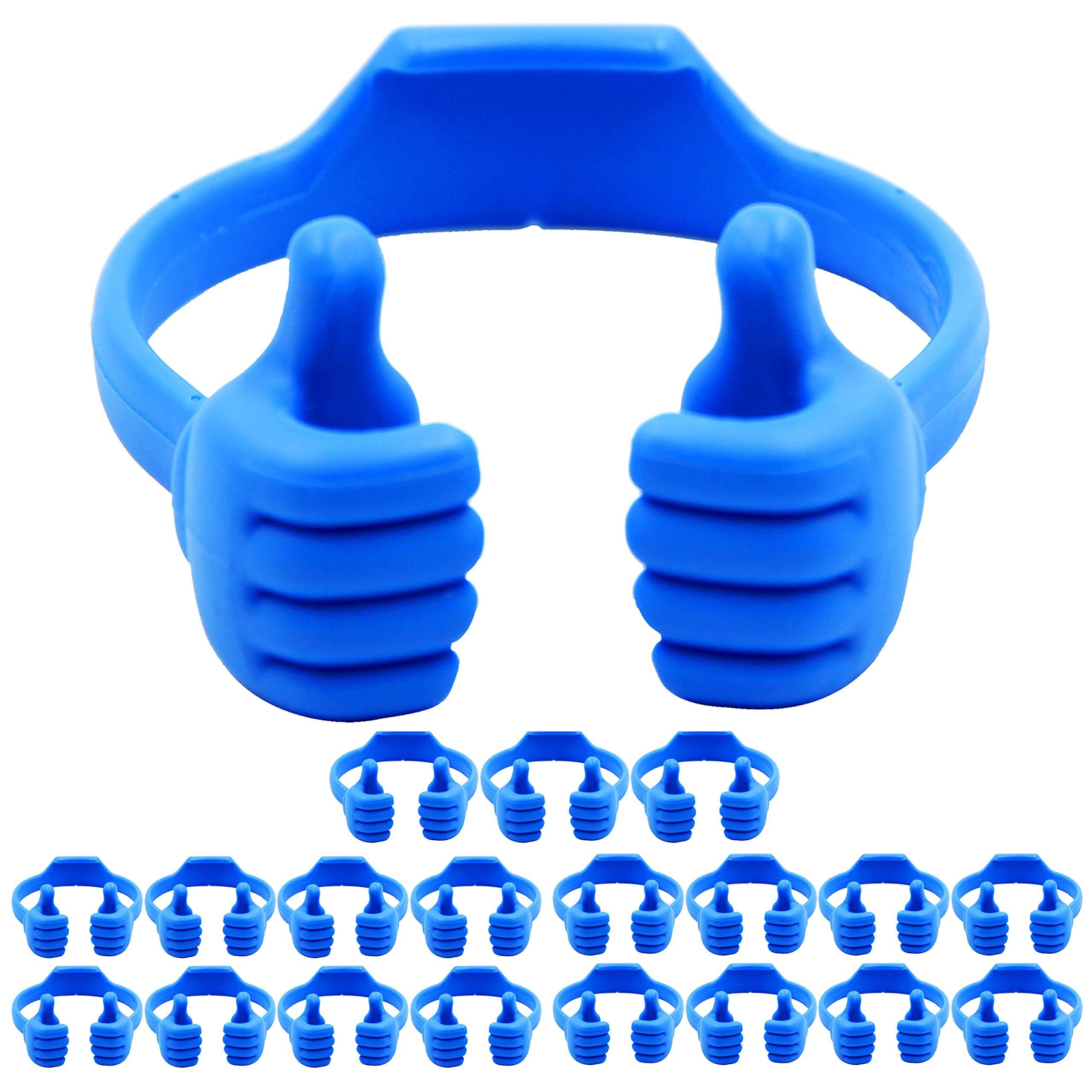 Cell Phone Tablet Stands (20 Packs): Honsky Thumbs-up Cellphone Holder, Tablet Display Stand, Mobile Smartphone Mount Cradle for Desk Desktop - Universal, Multi-Angle, Cute, Blue